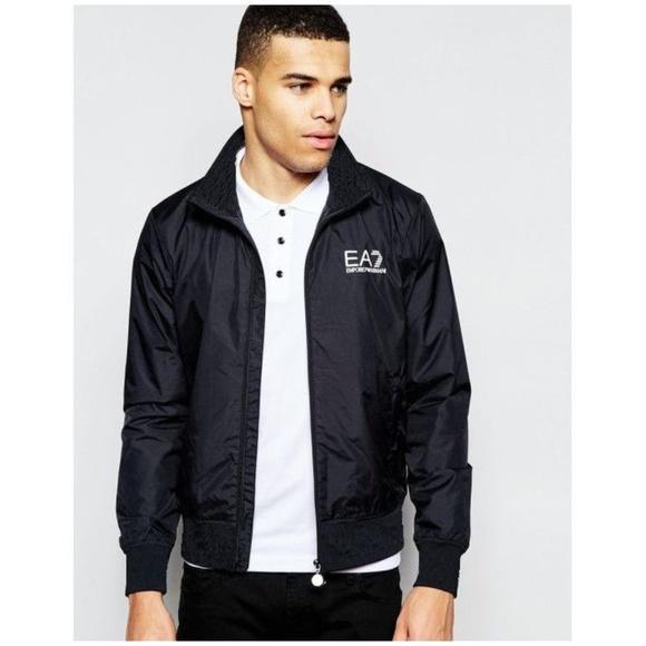 most desirable fashion Clearance sale presenting EA7 | Black Emporio Armani Logo Bomber Jacket